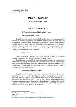 Curs - Drept Roman