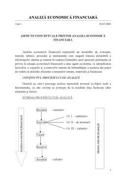Curs - Analiză Economică Financiară