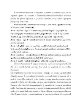 Proiect - Recomandari privind Minimizarea - Riscurilor Modalitatilor de Plata Internationale Utilizate in BC